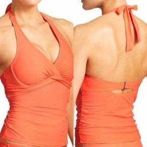 Orange Athleta Tankini Top NWT